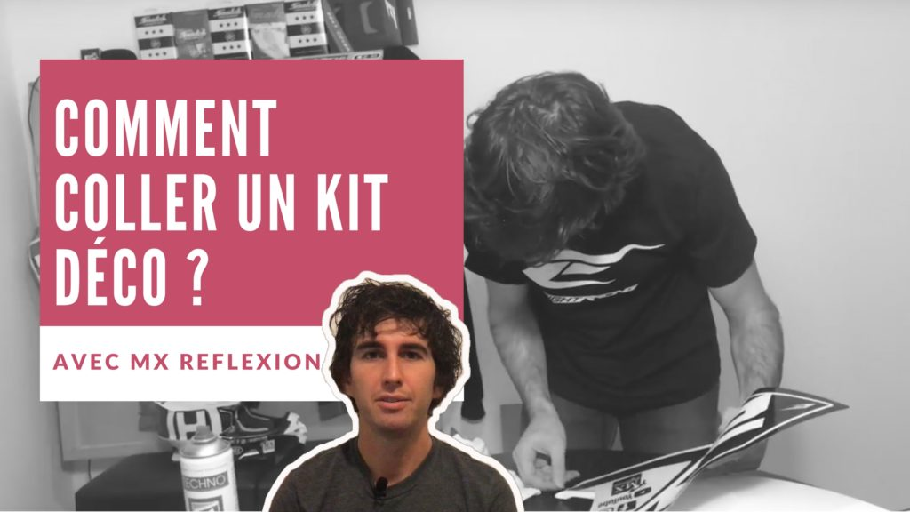 comment coller un kit deco sur une moto tout terrain